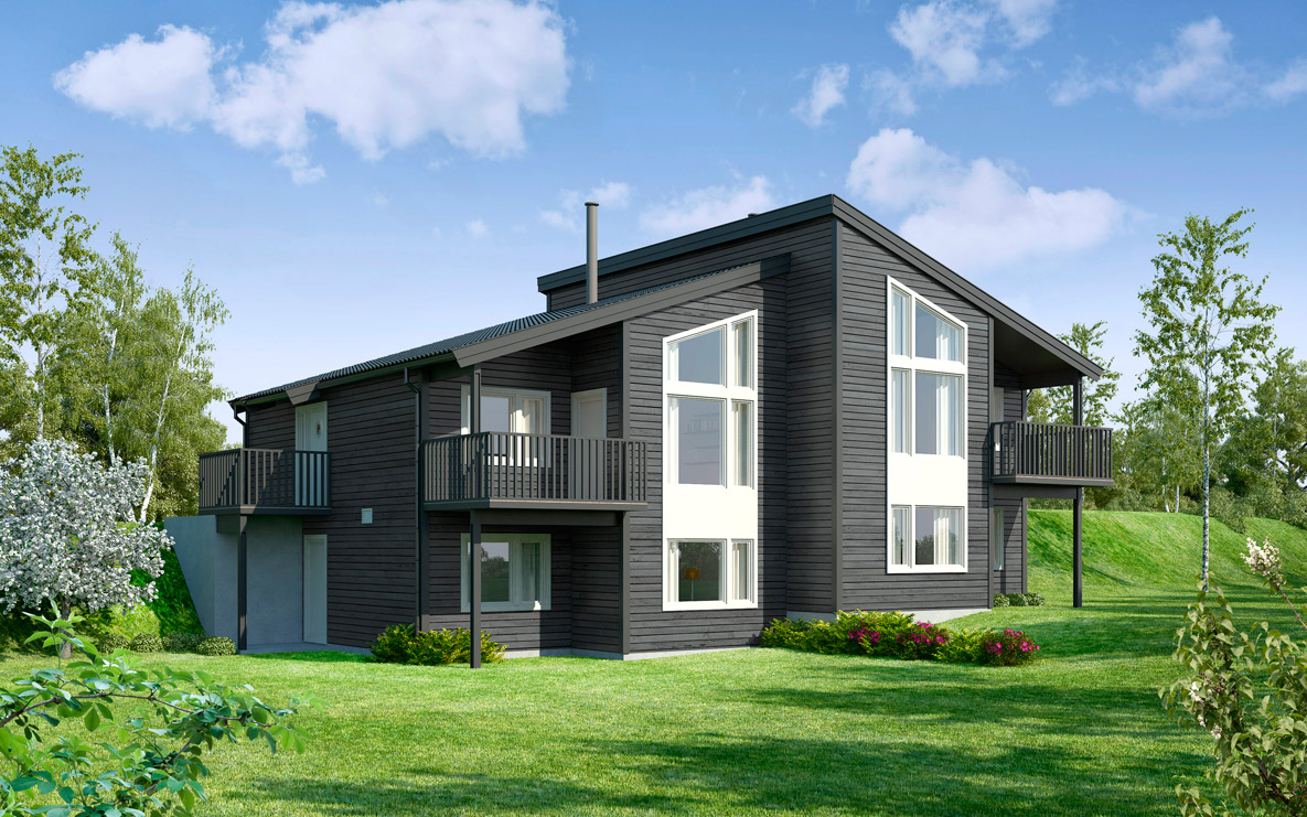 Groovy Bygg tomannsbolig med finansiering i Husbanken   Nordbohus SA-66