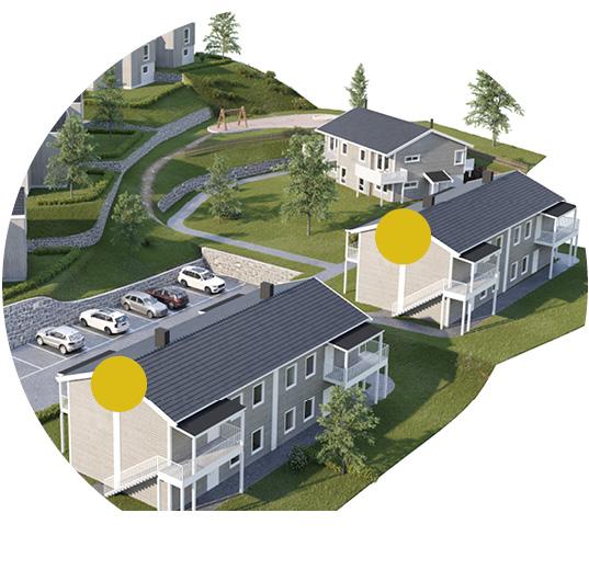 Enorm 4-mannsbolig - Hus 1 - seksjon 4 | Nordbohus HP-62